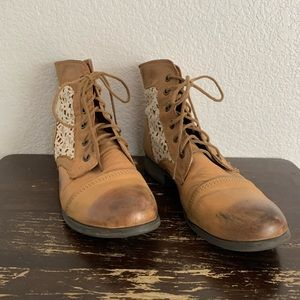 Steve Madden | Thundr-C lace up leather boots 9.5
